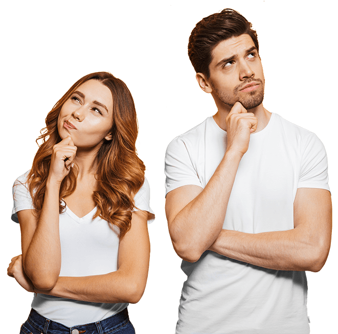 Couple Thinking of Recruitment Questions